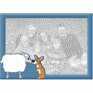 Corgi & Sheep Photo Frame Cut Out