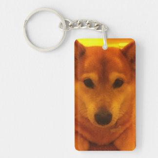 Corgi shiba cross key ring Single-Sided rectangular acrylic keychain
