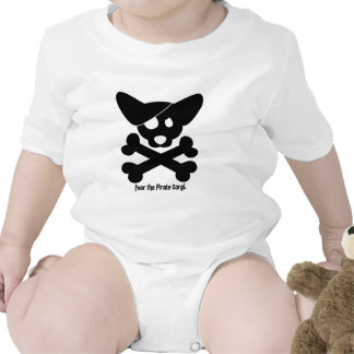 Corgi Skull & Crossbones Baby Creeper