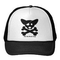 Corgi Skull & Crossbones Hat
