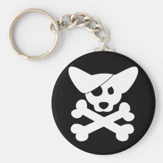 Corgi Skull & Crossbones Keychain