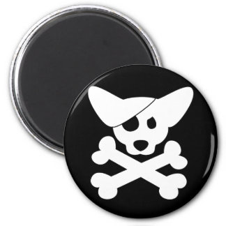 Corgi Skull & Crossbones Magnet