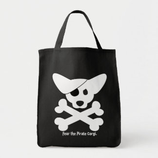 Corgi Skull & Crossbones Tote Bag