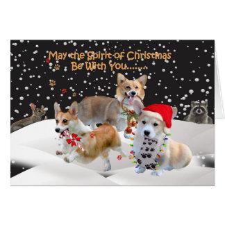 Corgi Spirit of Christmas Greeting Cards