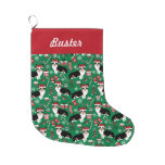 Corgi Stocking - cute corgis design christmas