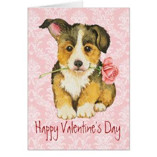 Corgi subió tarjeta del día de San Valentín Galés