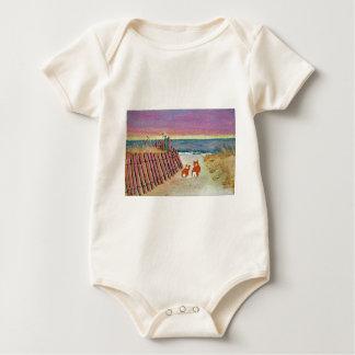 CORGI SUNSET STROLL BABY BODYSUIT