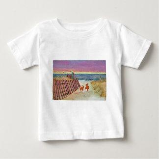 CORGI SUNSET STROLL BABY T-Shirt