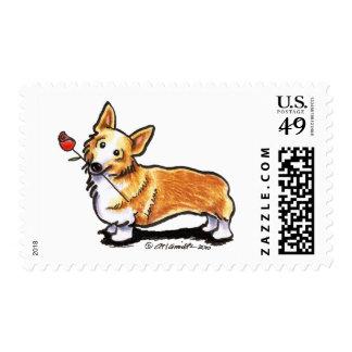 Corgi Sweetheart Stamp