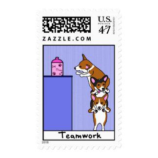 Corgi Teamwork Postage Stamps