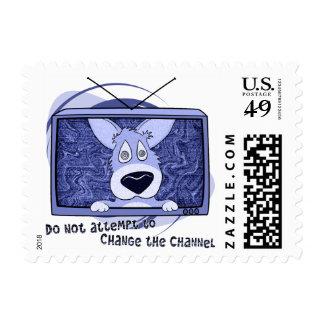 Corgi Television Invasion Postage Stamps