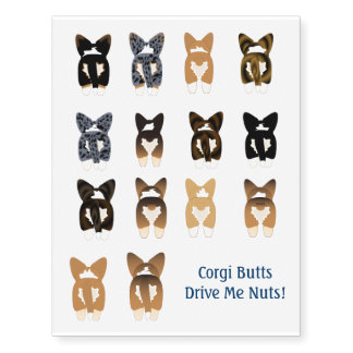 Corgi Temporary Tattoos