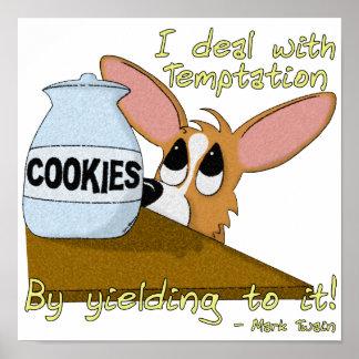 Corgi Temptations Poster