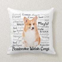 Corgi Traits Pillow