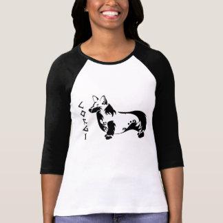 Corgi tribal camiseta