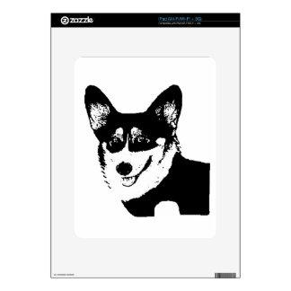 Corgi tricolor de cabeza negra Galés Skin Para El iPad