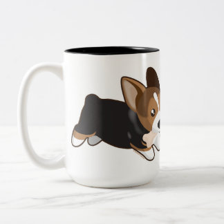 Corgi Two-Tone Coffee Mug