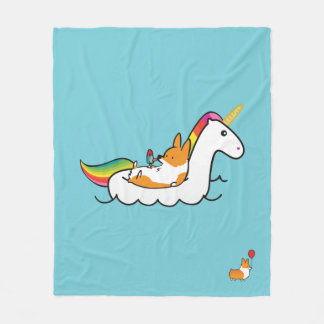 Corgi Unicorn Floatie Blanket