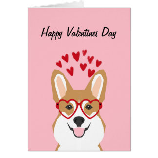Corgi Valentines Love Card - cute dog
