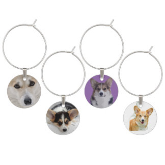 Corgi Wine Charms