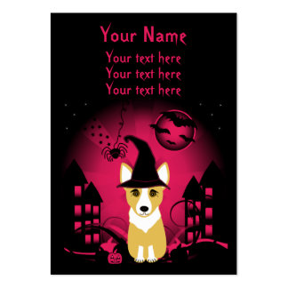 Corgi Witch Large Business Cards (Pack Of 100)