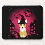Corgi Witch Mouse Pad