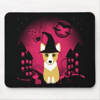 Corgi Witch mousepad