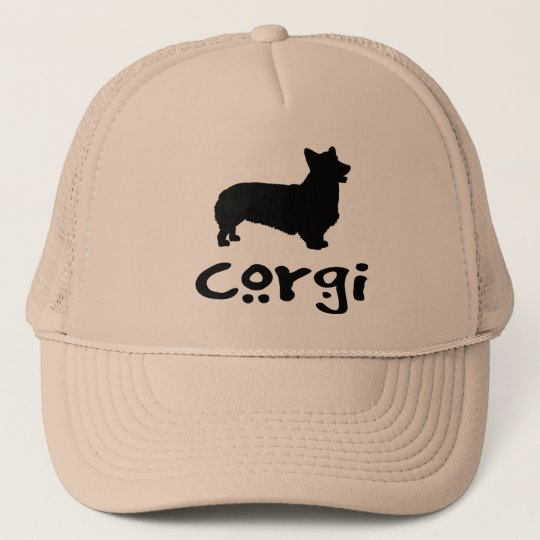Corgi With Cool Text Trucker Hat