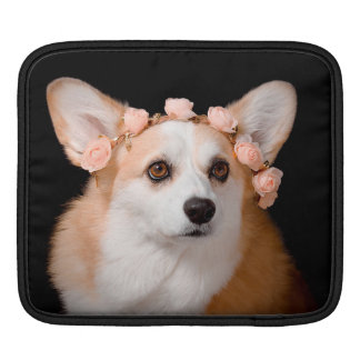 Corgi With Flowers in Her Hair Sleeve For iPads