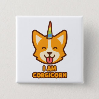 Corgicorn Pinback Button