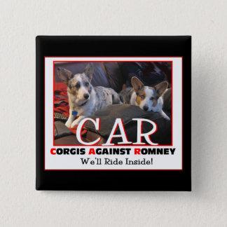 Corgis Against Romney pin