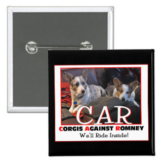 Corgis Against Romney pin