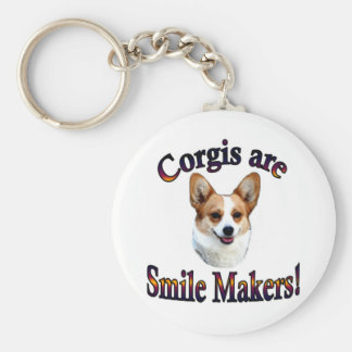 Corgis are smile Makers Basic Round Button Keychain