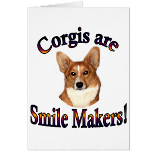 Corgis are smile Makers - Pippin Greeting Card