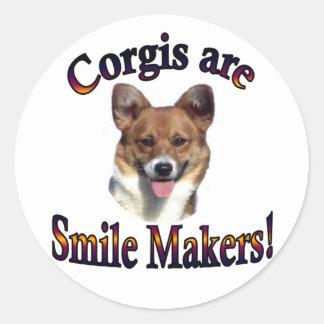 Corgis are smile Makers - Sable Classic Round Sticker