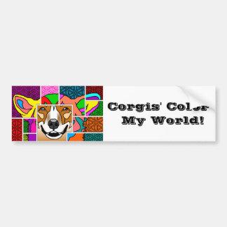 Corgis' Color My World Bumper Sticker