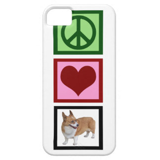 Corgis del amor de la paz iPhone 5 Case-Mate carcasa