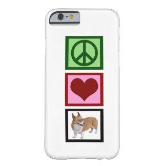 Corgis del amor de la paz funda de iPhone 6 barely there