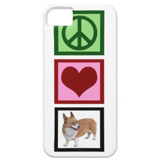 Corgis del amor de la paz iPhone 5 fundas