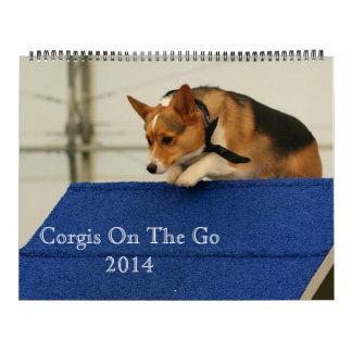 Corgis en camino 2014 calendarios de pared