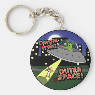 Corgis from Outer Space Keychain