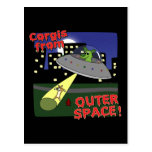 Corgis from Outer Space Postcard