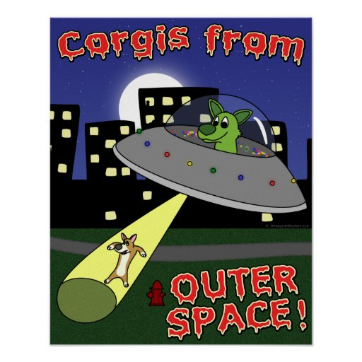 Corgis from Outer Space Poster