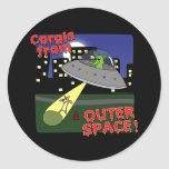 Corgis from Outer Space Stickers