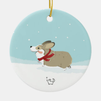 Corgis in the Snow Ornaments