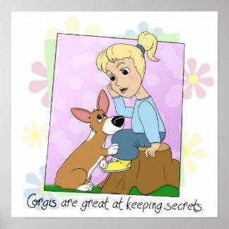 Corgis Keep Secrets Poster