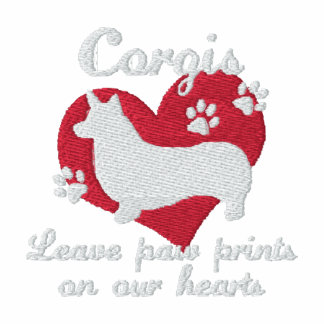 Corgis Leave Paw Prints Women's Dark