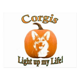 Corgis Light up my Life-Gimli Postcard