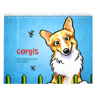 Corgis Off-Leash Art™ Vol 1 Calendar