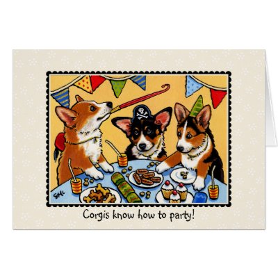 Birthday pembroke welsh corgi card zazzle m4hsunfo